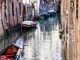 canal, gondola, boats in Venice, Italy