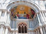 gold mosaic in gate portal of San Marco Cathedral Basilica