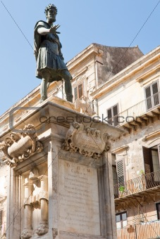 monument of Charles V- spanish king of Sicily, Palermo