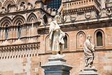 statues near Palermo Cathedral, Sicily, Italy