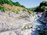 riverbed of river Alcantara, Sicily