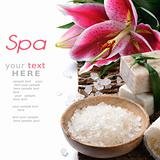 Spa set with lily