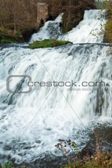 Waterfall on Autumn River