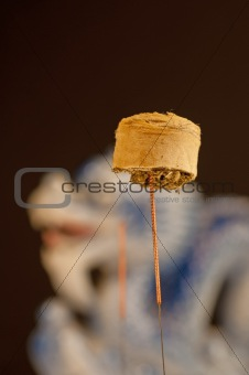 acupuncture needle with moxa