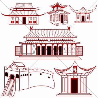 Image 4185693 Chinese Traditional Outlined Buildings From