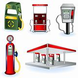Fuel Station Pump Icons