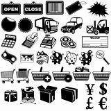 Shop pictogram icons 1