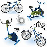 Sport equipment icons 2