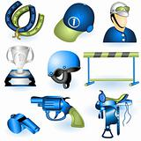 Sport equipment icons 3