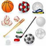 Sport equipment icons 1