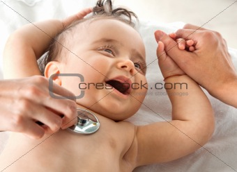 Baby hospital examination