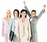successful businesswomen team