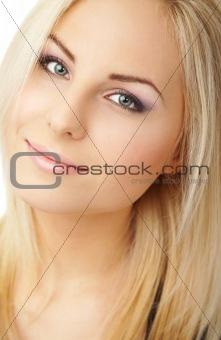 clean fresh blond female