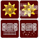 Weather Icon in mayan style