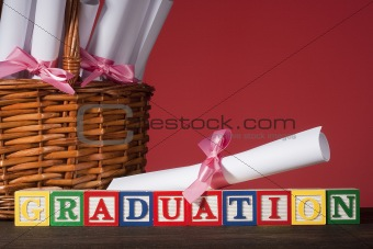 "Wooden blocks ""Graduation"""