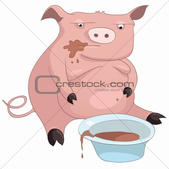Cartoons_0063_Pig_Vector_