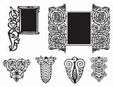 Decorative ornament Gothic style