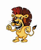 Angry cartoon lion