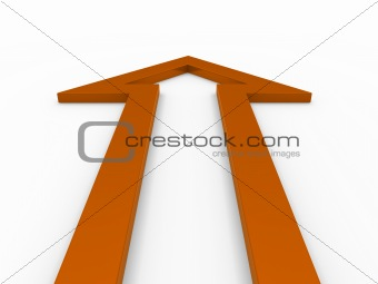 3d arrow orange up