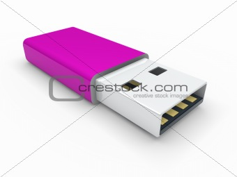 3d usb stick purple