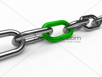 3d chain chrome green