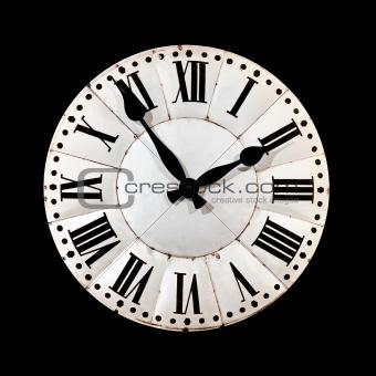Black retro clock