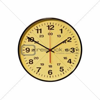 Business clock white