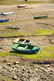 boats in low tide
