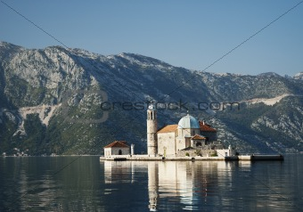 church in perast kotor bay montenegro