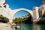 old stone bridge in mostar bosnia
