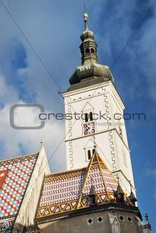 church spire in zagreb croatia