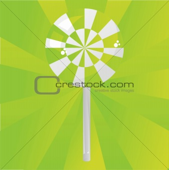 green lollipop background