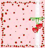 background funny strawberry