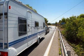 Caravan in the road