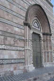 the facade of the cathedral of Messina