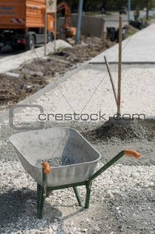Tools for manual mixing of concrete