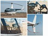 Helicopter, rear wing, cabin and steering lever