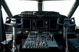 Cockpit of a military aircraft