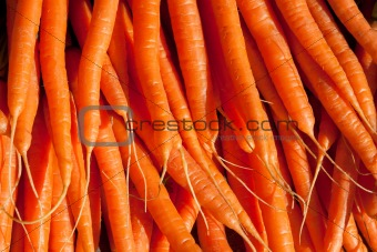 Carrots on a Market Stall