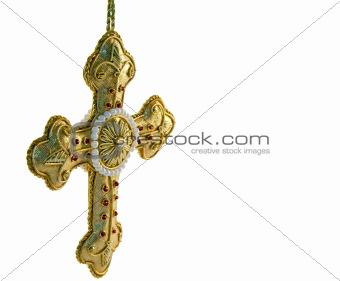 Crucifix in Gold Thread