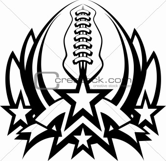 Football Vector Graphic Template with Stars