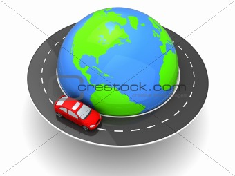 car around world