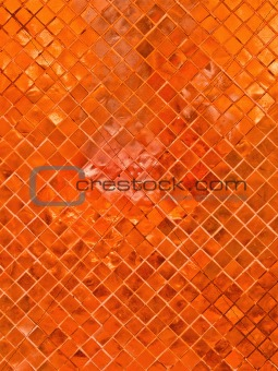 Orange tile background