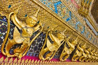 Art Thai style in temple.