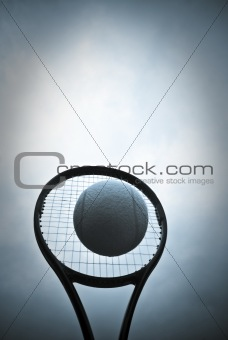 Blue ball tennis