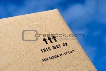 Sky blue cardboard box