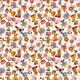 cartoon circus seamless pattern