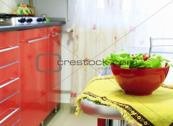 Bowl with salad