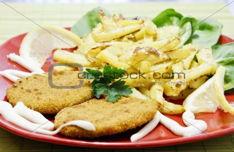 Fish hamburgers