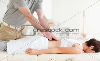 Charming Patient getting an accupressur